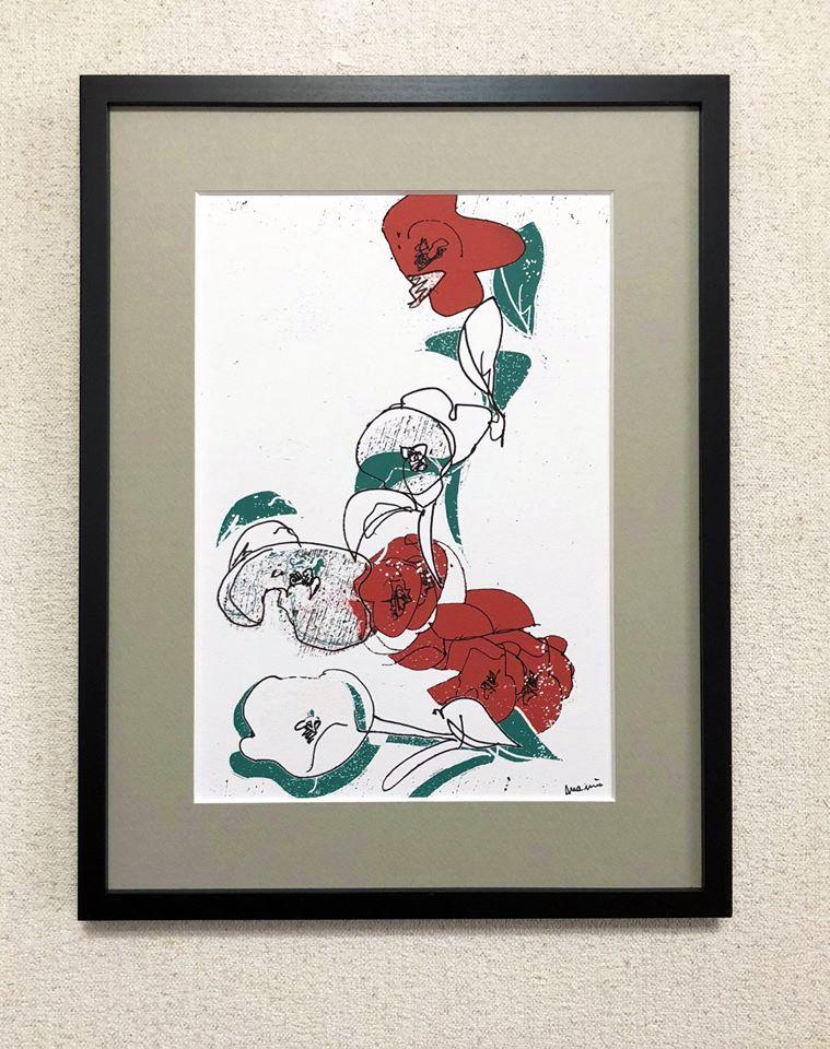 「紅い花」岡本 真実