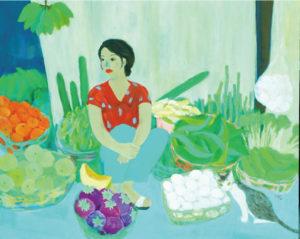 ハノイの野菜売り